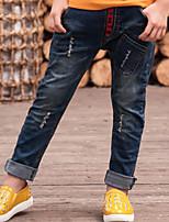 Jeans Garçon Décontracté / Quotidien Couleur Pleine Coton Hiver Printemps Automne