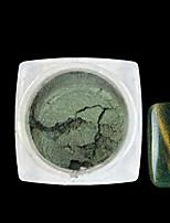 1 Bottle Blackish Green Mirror Shiny Effect New 3D Nail Art Decoration Cat Eye Magic Glitter Powder Nail Pigment For UV Gel 6602E