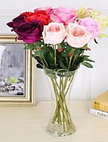 1 Branch Plastic Roses Tabletop Flower Artificial Flowers