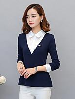 falske to skjortebluser 2017 våren og høsten koreanske versjonen av slim koreansk fan strikke langermet skjorte okkupasjon