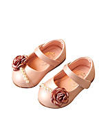 Baby Flats Spring Fall Comfort Leatherette Outdoor Casual Flat Heel Magic Tape White Sliver Pink Walking