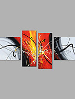 Modern Abstract  Hand-painted Canvas Painting Four Panels Ready to Hang  Canvas Oil Painting For Home Decoration