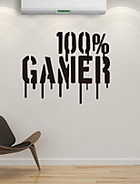 Gamer Words Wall Sticke Vinyl Material Home Decoration