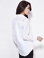 wit overhemd dunne vrouwelijke modellen voorjaar nieuwe lange mouwen wit katoenen shirt vrouwelijke Koreaanse fan preppy blouses