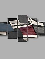 Tela de impressão Abstrato Vida Imóvel Estilo Moderno,5 Painéis Tela Qualquer Forma Impressão artística Decoração de Parede For Decoração