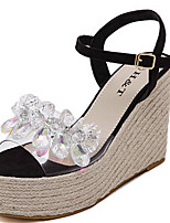 Damen-Sandalen-Kleid-Lackleder-KeilabsatzSchwarz Silber Grau