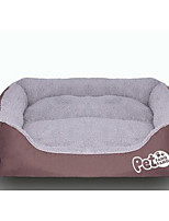 Кошка Собака Кровати Животные Коврики и подушки Мягкий Голубой Розовый Оранжевый Нейлон Котон