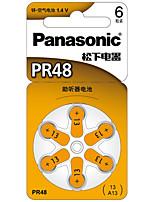 Batterie lithium 3v 6 paquet de pile bouton Panasonic pr-48CH