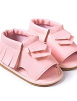 Розовый Миндальный Темно-коричневый-Дети-Для прогулок Повседневный-Полиуретан-На низком каблуке-Обувь для малышей-На плокой подошве