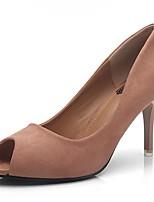 Feminino-Saltos-Conforto Sapatos clube-Salto Agulha--Flanelado-Escritório & Trabalho Social Festas & Noite