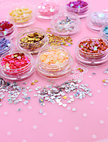Manicure jewelry peach sequins 12 color mix nail decorative Sequin laser