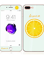 For Apple iPhone 7 4.7 Tempered Glass with Soft Edge Full Screen Coverage Front and Back Screen Protector Lemon Pattern
