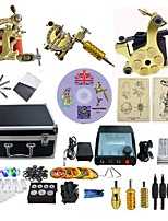 Complete Tattoo Kit 3  Machines DragonU With LCD Dual Digital Power Supply  liner & shader