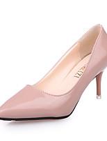 Décontracté-Noir Rose-Talon Aiguille-Confort-Chaussures à Talons-Polyuréthane