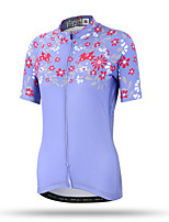 XINTOWN Women's Short Sleeve Bike Breathable Quick Dry Back Pocket Sweat-wicking Comfortable Tops Terylene Spring Summer Fall/Autumn