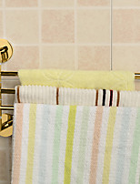 Golden Bathroom Kitchen Rotating Towel Holder 3 Movable Rod Towel Bar Belt Towel Rack Bathroom Accessories