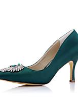каблуки весна лето осень зима вечеринка комфорт ткани свадьба&вечернее платье стилет каблук игристое мерцающий зеленый