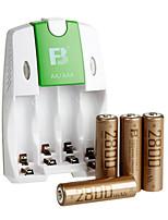 fb fb-18 aa batterie rechargeable à hydrure métallique de nickel 1.2V 2800mAh 4 paquet