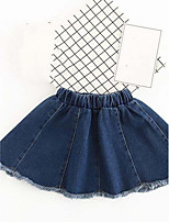 Girls' Casual/Daily Holiday Solid Skirt-Cotton Summer
