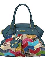 Kate&Co. snake mosaic mosaic series fashion leather bag / Handbag hand sewn luxury TH-2208 Emerald