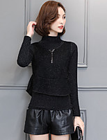 Plus cashmere knit long-sleeved shirt 2016 new women's autumn and winter high-necked sweater dress two-piece Korean version of the influx