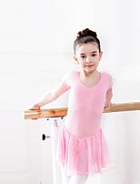 Ballet Dresses Children's Training Chiffon Cotton Spandex 1 Piece Dress
