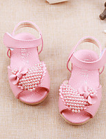 Baby Flats Spring Fall Comfort Leatherette Outdoor Casual Flat Heel Magic Tape Beige Pink Walking