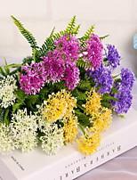 1 Branch Plastic Hydrangeas Tabletop Flower Artificial Flowers