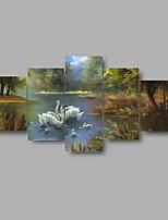 Tela de impressão Paisagem Vida Imóvel Moderno Clássico,5 Painéis Tela Qualquer Forma Impressão artística Decoração de Parede For