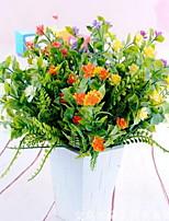 1 Ramo Plástico Outras Flor de Mesa Flores artificiais 25*25*32