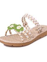 Sandals Spring Summer Fall Comfort PU Dress Casual Flat Heel Applique Yellow Purple White