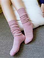Children socks cotton workers pile socks cotton solid color point socks children in the tube socks foreign trade