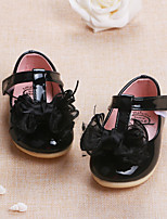 Baby Flats Spring Fall First Walkers PU Outdoor Casual Low Heel Magic Tape Black Red Pink Walking
