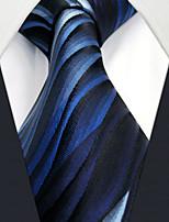 UXL23  Mens Ties Blue Geometrical 100% Silk Business Fashion For Men
