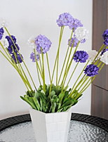 1 Branch Plastic Lavender Tabletop Flower Artificial Flowers Provence Lavender Five Heads