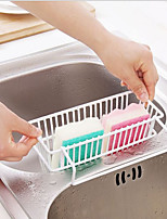 Iron Kitchen Sink Drain Rack Shelf Pool Cleaning Sponge Storage Rack Hanging Basket