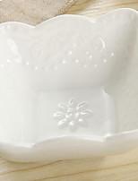 1 Pcs Ceramic Dining Bowl Dinnerware Square Bowl Salad Bowl