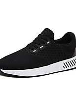 Men's Sneakers Light Soles Tulle PU Spring Fall Athletic Outdoor Light Soles Black