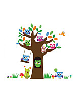 Wall Stickers Wall Decals Style Owl Tree PVC Wall Stickers