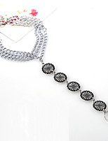 Women's Anklet/Bracelet Alloy Vintage Hypoallergenic Statement Jewelry Carved Fashion Flower Silver Women's Jewelry Party Daily Casual 1pc