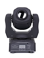 U'King® 80W 8PCS Effect Patterns LED Spot Moving Head Stage Light DMX512 Auto Voice Control Black for DJ KTV TV theatre home party Ballroom 1pcs