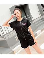 Sign hooded 2017 summer new candy-colored pants suit two-piece student recreational sports