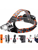 U'King® ZQ-X821#-UK CREE XM-L T6/2*R5 Headlamp 5000LM LED 4 Mode for Camping Hiking Bike Outdoor Green light