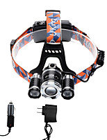 U'King® ZQ-X825B-EU CREE XML-T6/2R5 LED Zoomable 4000LM Headlamp Headlight Bicycle Light for Camping Hiking