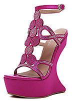 Habillé-Noir Rose Violet-Plateforme-club de Chaussures-Chaussures à Talons-Polyuréthane