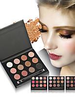 12 Palette Fard à paupières Sec Palette Fard à paupières Poudre OrdinaireMaquillage Quotidien Maquillage d'Halloween Maquillage de Fête