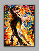 Hand-Painted Abstract People dancing Modern Classic One Panel Canvas Oil Painting For Home Decoration