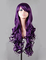 Synthetic Lolita 80cm Long Purple Wavy  Women's Costume Wig Cosplay Full Wig