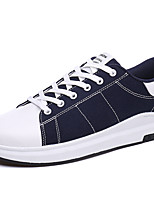 Sneakers Summer Fall Ankle Strap Canvas Outdoor Casual Lace-up Black Blue Red