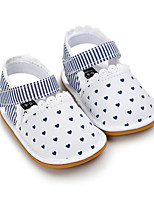 Baby Flats Spring Fall First Walkers Leatherette Outdoor Casual Low Heel Magic Tape White Blue Dark Brown Walking